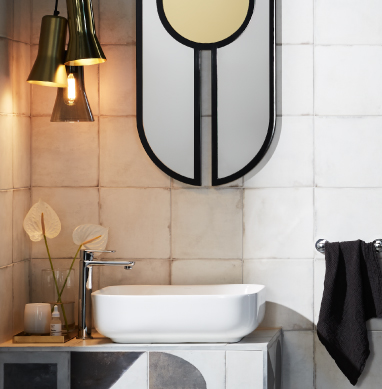 How to enhance space in a small bathroom
