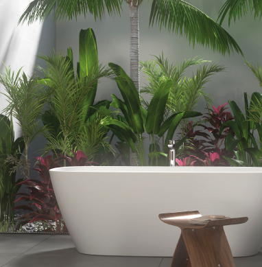 How to create a natural oasis in your bathroom